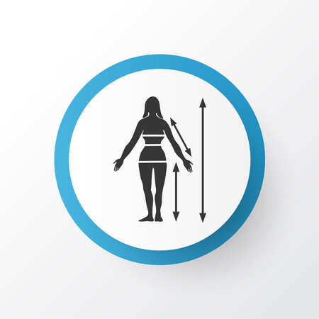 Body measurements icon symbol. Premium quality isolated tailoring element in trendy style.