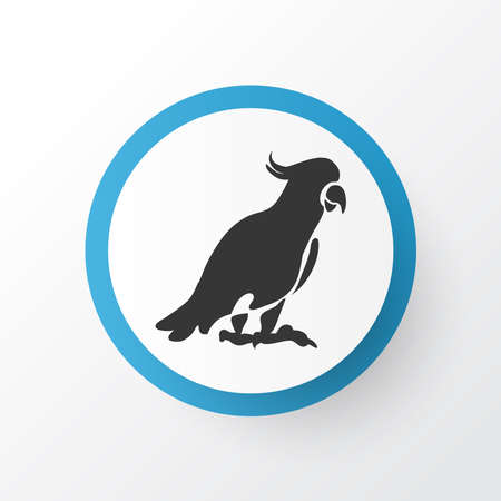Cockatoo icon symbol. Premium quality isolated parrot element in trendy style. Banque d'images - 130414524