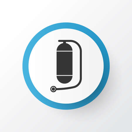 Oxygen cylinder icon symbol. Premium quality isolated underwater tank element in trendy style.