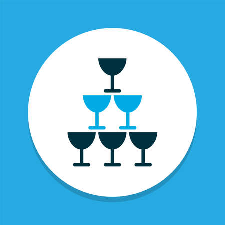 Glasses icon colored symbol. Premium quality isolated celebration element in trendy style.