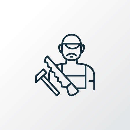 Carpenter icon line symbol. Premium quality isolated craftsman element in trendy style. 写真素材