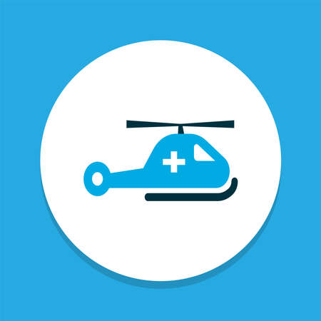 Helicopter icon colored symbol. Premium quality isolated help element in trendy style.