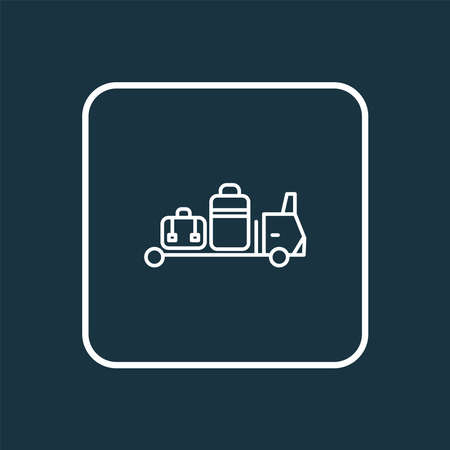 Baggage transfer icon line symbol. Premium quality isolated carrying element in trendy style.