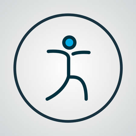 Relaxation icon colored line symbol. Premium quality isolated yoga pose element in trendy style. 스톡 콘텐츠 - 133463665