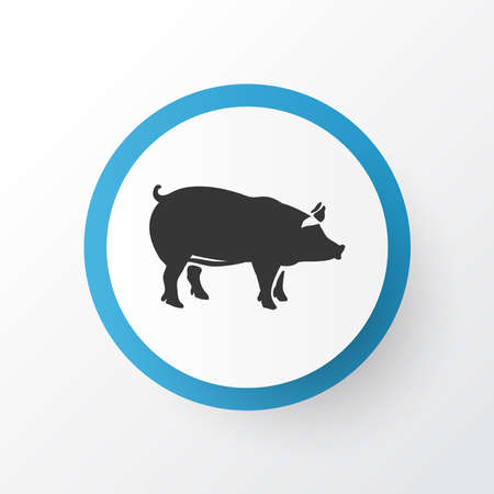 Pig icon symbol. Premium quality isolated pork element in trendy style. Illustration