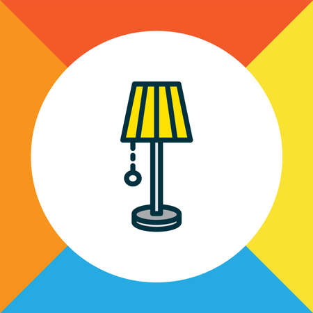 Lamp icon colored line symbol. Premium quality isolated light element in trendy style.