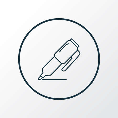 Marker icon line symbol. Premium quality isolated highlighter element in trendy style.