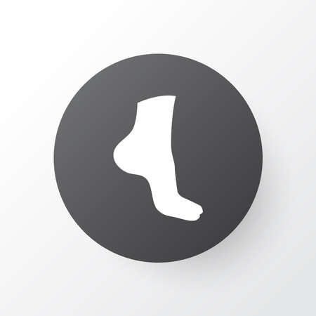 Foot icon symbol. Premium quality isolated leg element in trendy style. Archivio Fotografico - 133468233
