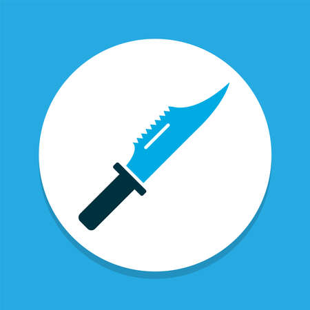 Cutter icon colored symbol. Premium quality isolated knife element in trendy style.