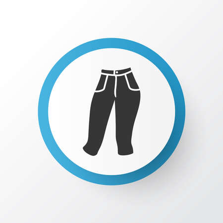 Capris icon symbol. Premium quality isolated breeches element in trendy style.