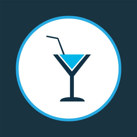 Cocktail icon colored symbol. Premium quality isolated martini element in trendy style.
