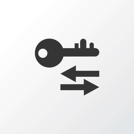 Sort keywords icon symbol. Premium quality isolated arrow element in trendy style.