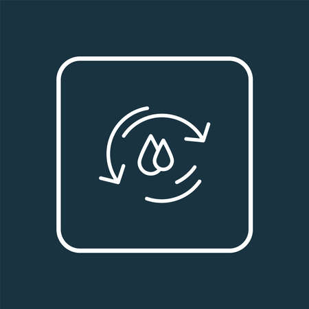 Water cycle icon line symbol. Premium quality isolated ecology element in trendy style. Ilustracja