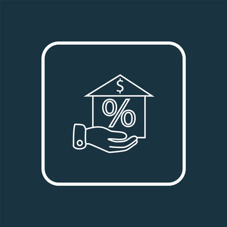 Property investment icon line symbol. Premium quality isolated mortgage element in trendy style. 일러스트