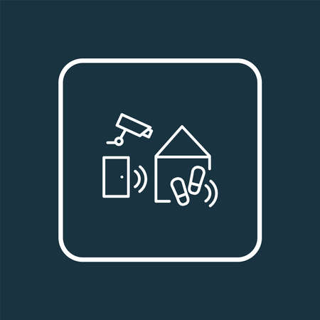Smart home icon line symbol. Premium quality isolated technology element in trendy style. Ilustracja