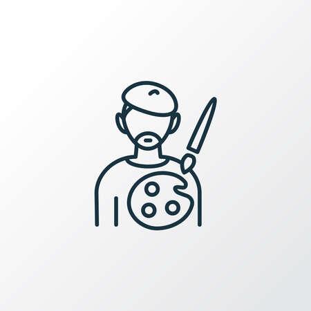 Painter icon line symbol. Premium quality isolated artist element in trendy style. 일러스트