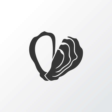 Oyster icon symbol. Premium quality isolated shellfish element in trendy style.
