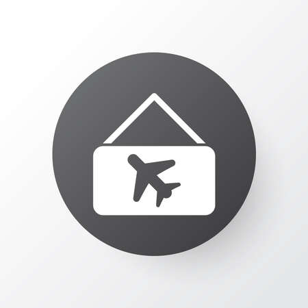 Picture airplane icon symbol. Premium quality isolated aircraft banner element in trendy style.