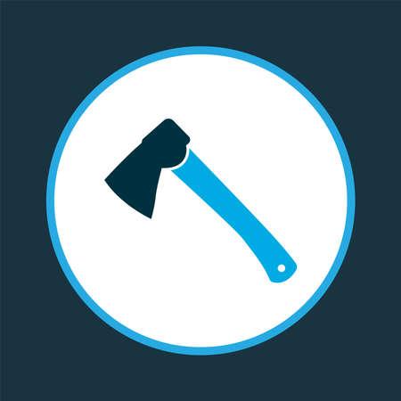 Hatchet icon colored symbol. Premium quality isolated axe element in trendy style.