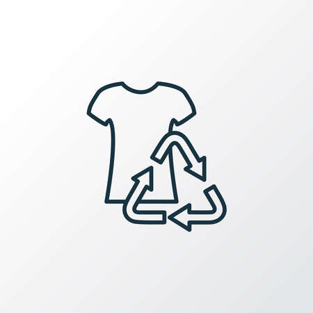 Reuse clothes icon line symbol. Premium quality isolated t-shirt element in trendy style.