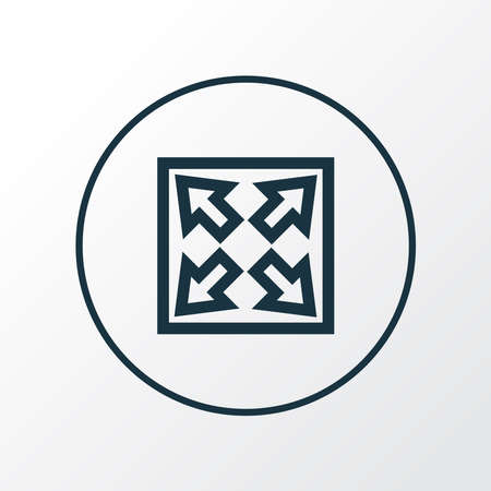 Widen icon line symbol. Premium quality isolated enlarge element in trendy style. Иллюстрация