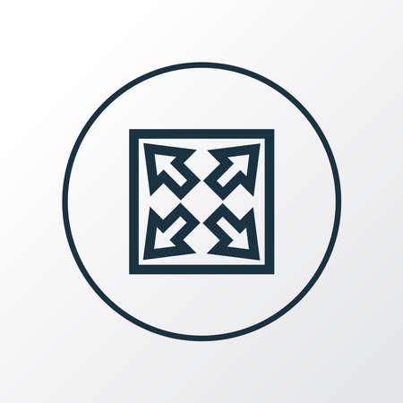 Widen icon line symbol. Premium quality isolated enlarge element in trendy style. Ilustracja