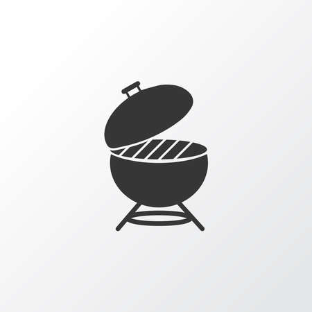 Barbecue icon symbol. Premium quality isolated bbq element in trendy style.