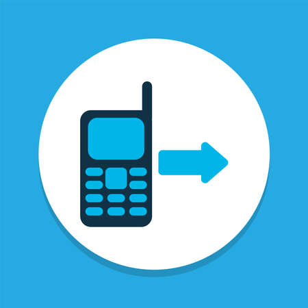 Outgoing icon colored symbol. Premium quality isolated call from mobile element in trendy style.