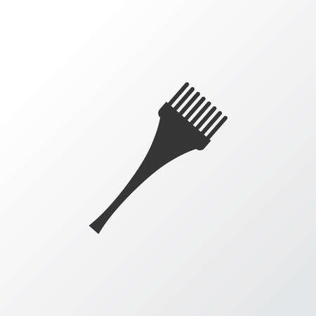 Hair dye brush icon symbol. Premium quality isolated bristle element in trendy style. Ilustracja