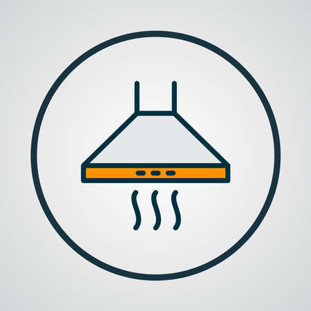 Kitchen hood icon colored line symbol. Premium quality isolated extractor element in trendy style.