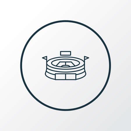 Stadium icon line symbol. Premium quality isolated arena element in trendy style.