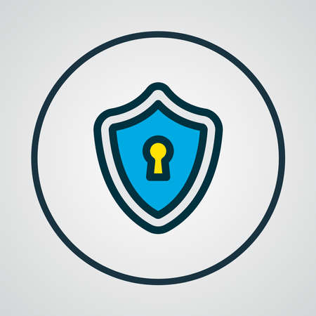 Privacy icon colored line symbol. Premium quality isolated safety element in trendy style.