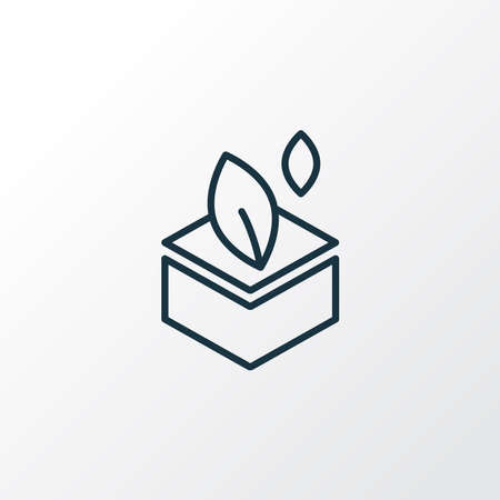 Eco packaging icon line symbol. Premium quality isolated package element in trendy style. Banco de Imagens