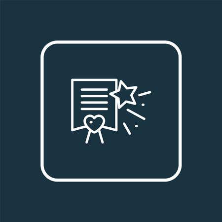 Wish list icon line symbol. Premium quality isolated paper element in trendy style. Stock fotó - 134978997