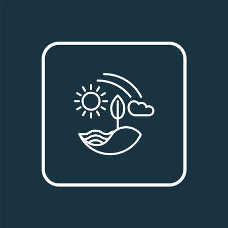 Nature icon line symbol. Premium quality isolated farming element in trendy style.