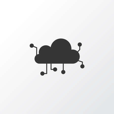 Cloud computing icon symbol. Premium quality isolated network element in trendy style.