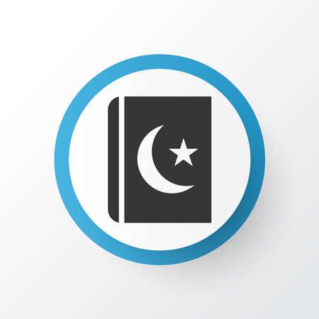 Islam book icon symbol. Premium quality isolated koran element in trendy style.