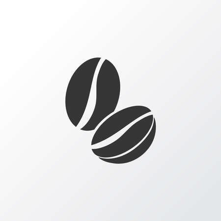 Coffee beans icon symbol. Premium quality isolated arabica bean element in trendy style.