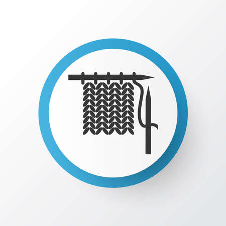 Knitting icon symbol. Premium quality isolated crochet element in trendy style.