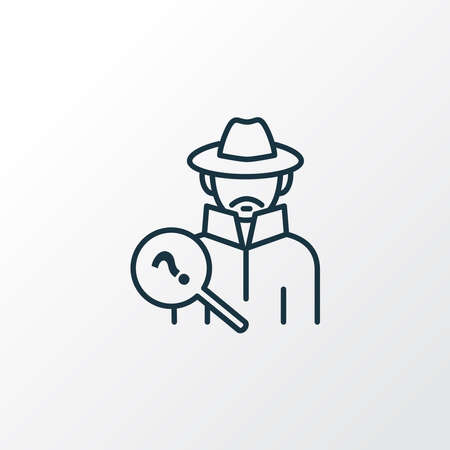 Detective icon line symbol. Premium quality isolated investigator element in trendy style.