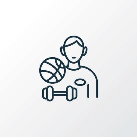 Sportsman icon line symbol. Premium quality isolated athlete element in trendy style. Archivio Fotografico - 135501466