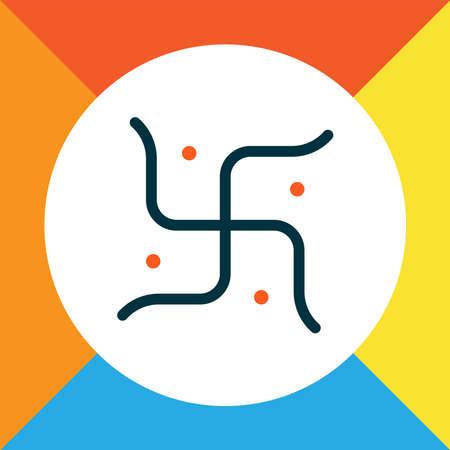 Religion icon colored line symbol. Premium quality isolated element in trendy style. Foto de archivo - 136276539