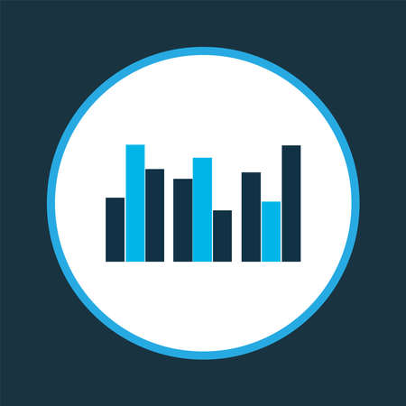 Bar chart icon colored symbol. Premium quality isolated columns graph element in trendy style.