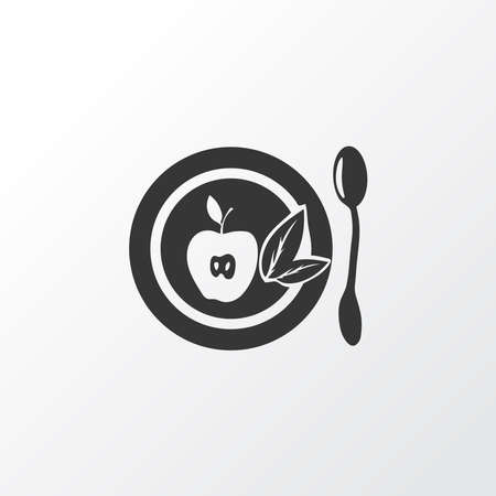 Healthy food icon symbol. Premium quality isolated fruit element in trendy style.