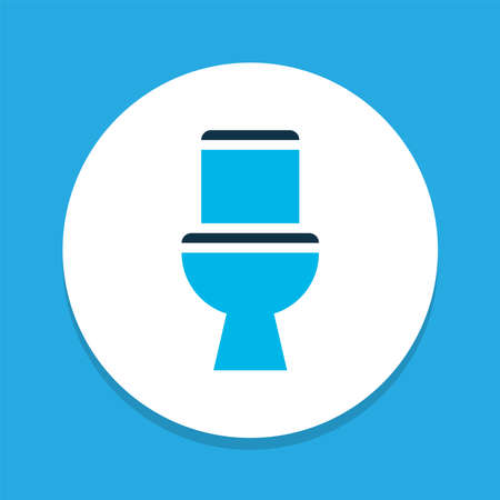 Toilet icon colored symbol. Premium quality isolated wc element in trendy style. Ilustracja
