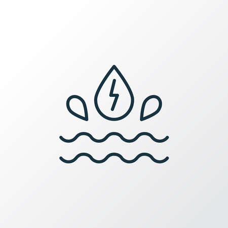 Water energy icon line symbol. Premium quality isolated hydroelectric element in trendy style. Vettoriali