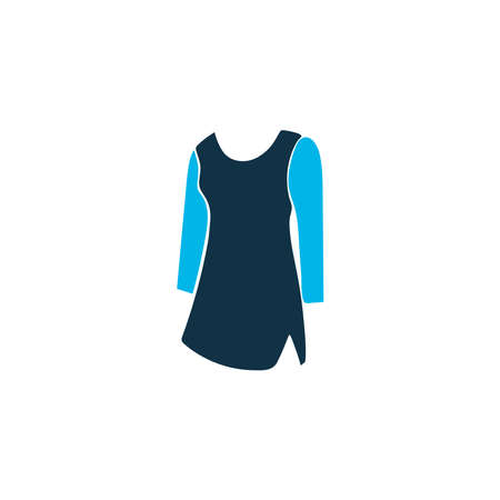 Tunic icon colored symbol. Premium quality isolated dress element in trendy style.