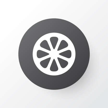 Mandarin icon symbol. Premium quality isolated orange element in trendy style.