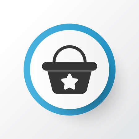 Beach bag icon symbol. Premium quality isolated handbag element in trendy style.