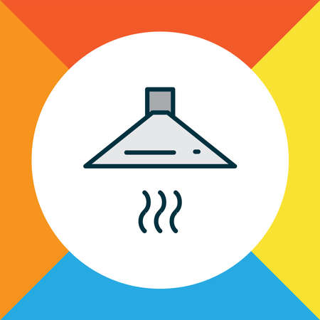 Exhaust hood icon colored line symbol. Premium quality isolated extractor element in trendy style.